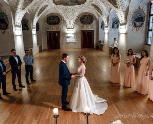 Wedding in Baroque Hall, Prague