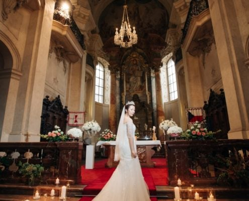 Church ceremony in Prague