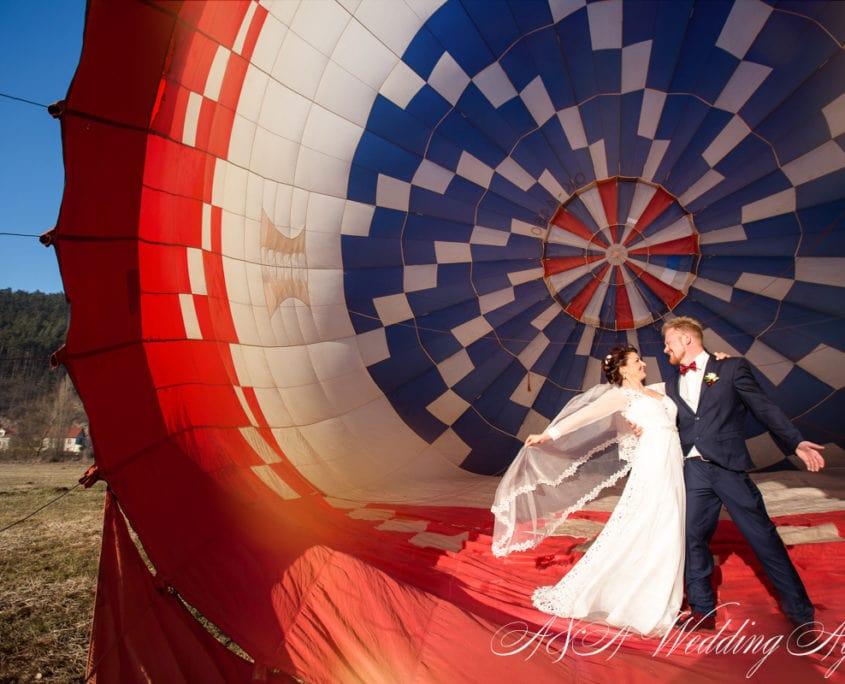 Wedding in a hot air balloon in Czech Republic