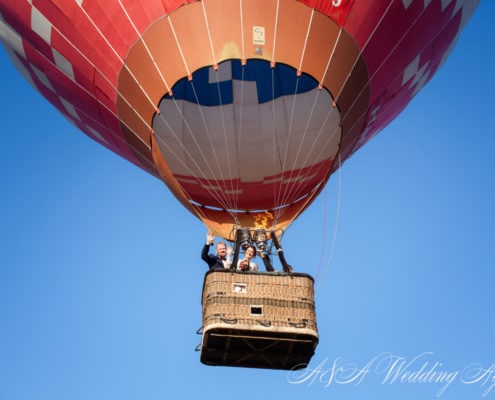 Wedding in a hot air balloon in Czech Republic