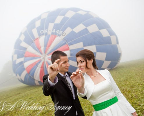 Wedding in a Hot Air Balloon in the Czech Republic